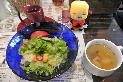 サラダとスープ