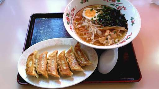朝餃子ラーメン