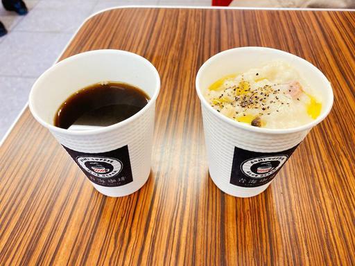 コーヒーとリゾット